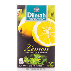 Dilmah Lemon Flavoured Tea (20 Bags) Pkt - 30g By Dilmah at Kapruka Online for specialGifts