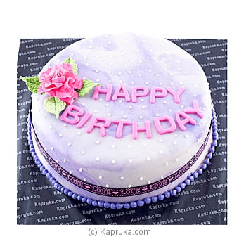 Happy Birthday To My Beautiful Rose Online at Kapruka | Product# cake00KA00520