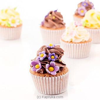 ` Blooms` Vanilla And Chocolate Mix Cupcakes - 12 Peice Online at Kapruka | Product# cake00KA00685