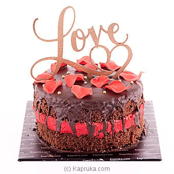 ` The Promise In A Kiss ` Chocolate Cake Online at Kapruka | Product# cake00KA00728