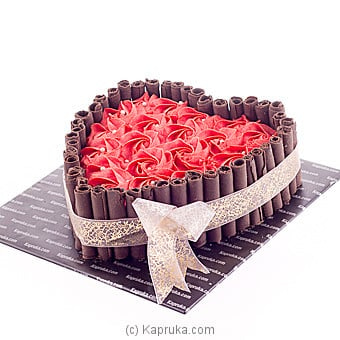 Swirl Of Romance Chocolate Cake Online at Kapruka | Product# cake00KA00732