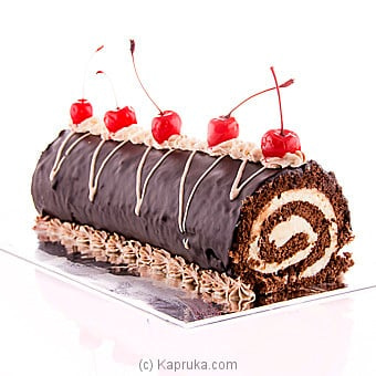 Divine Chocolate Swiss Roll Online at Kapruka | Product# cakeDIV00105
