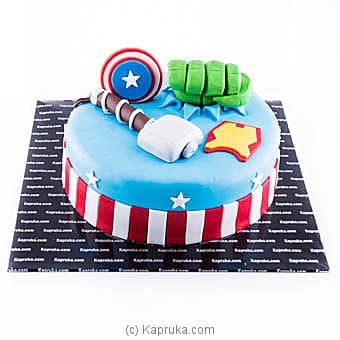Superhero In Party Cake Online at Kapruka | Product# cake00KA00866