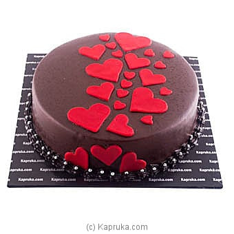 Dark Chocolate Heart Cake Online at Kapruka | Product# cake00KA00932