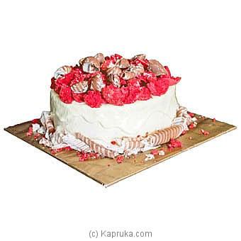 White chocolate and red velvet macron gateau Online at Kapruka | Product# cake0MAH00235