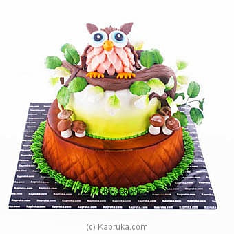 Cute Owl Ribbon Cake Online at Kapruka | Product# cake00KA00926