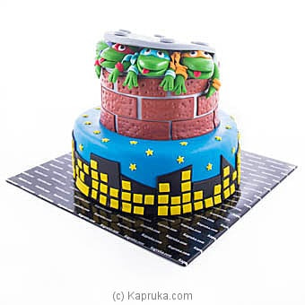 Teenage Mutant Ninja Turtles Ribbon Cake Online at Kapruka | Product# cake00KA00927