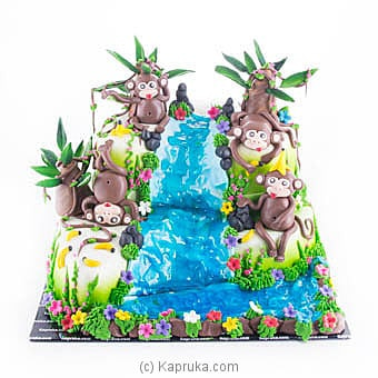 Monkey Vila Ribbon Cake Online at Kapruka | Product# cake00KA00935