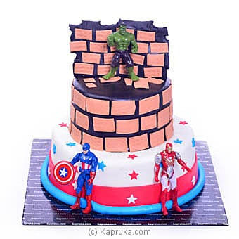 Superheroes In Action Online at Kapruka | Product# cake00KA00938