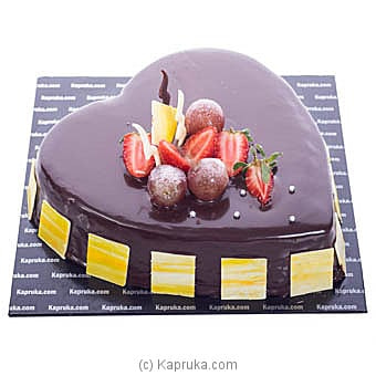 Premium Choco Strawberry Heart Cake Online at Kapruka | Product# cake00KA00945