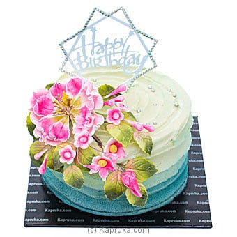 Floral Greetings Birthday Cake Online at Kapruka | Product# cake00KA001028
