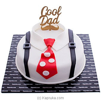 Daddy Cool Ribbon Cake Online at Kapruka | Product# cake00KA001071