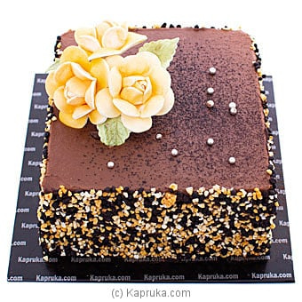Yellow Blooms Chocolate Cake Online at Kapruka | Product# cake00KA001075