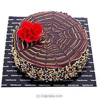 Floral Webbed Chocolate Cake Online at Kapruka | Product# cake00KA001077