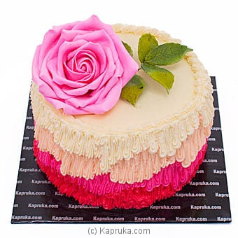 Pink Rose Ribbon Cake Online at Kapruka | Product# cake00KA001085