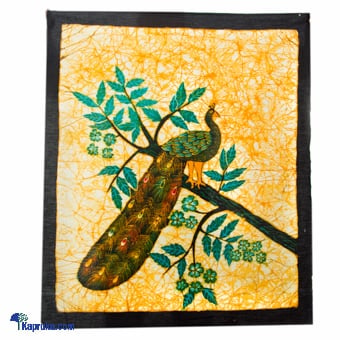 Peacock Batik Wall Hanging Online at Kapruka | Product# CBsouven00020