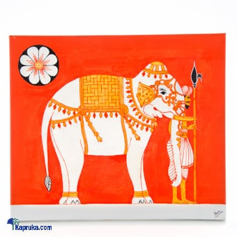 Elephant With Care Taker Kandyan Art Online at Kapruka | Product# CBwall00005