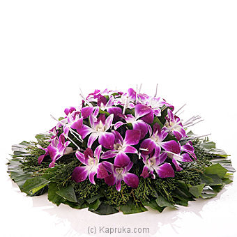 Flower Republic Orchid Coffin Wreath Online Price In Sri Lanka Flowers