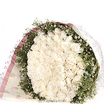100 White Rose Bouquet Online at Kapruka | Product# flowers00T241