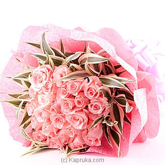 20 Pink Pearl Roses Flower Bouquet Online at Kapruka | Product# flowers00T657