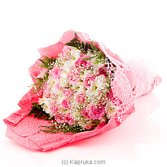 Blooms Of Pink Sapphire Flower Bouquet Online at Kapruka | Product# flowers00T865
