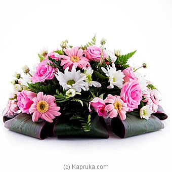 Pink And White Sympathy Online at Kapruka | Product# flowers00T867