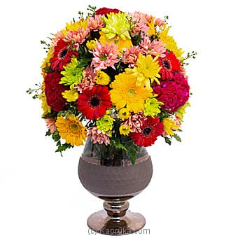 Sundry Hues - Mix Of Chrysanthemums, Gerberas And Celosia Online at Kapruka | Product# flowers00T1161