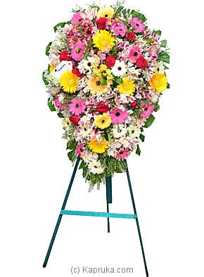 Funeral Wreath - C With Stand Online at Kapruka | Product# flowersWRE03