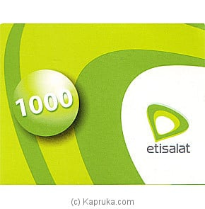 Rs 1000 Etisalat Prepaid Phone Card Online at Kapruka | Product# giftVoucher00Z119