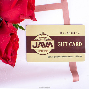 Java  lounge gift card. rs. 2000/- Online at Kapruka | Product# giftVoucher00Z139