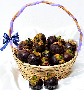 30 Mangosteens In A Basket Online at Kapruka | Product# fruits00121