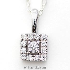 18k White Gold Pendent Set (PR 22P) Online at Kapruka | Product# alankara00138