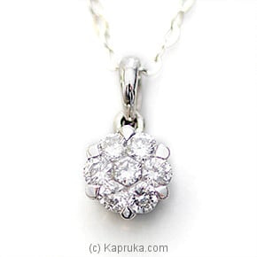 18k White Gold Pendent (S1011) Online at Kapruka | Product# alankara00139