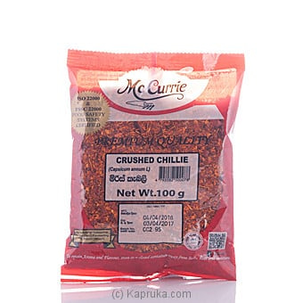 Mc Currie Crushed Chili 100g Online at Kapruka | Product# grocery00486