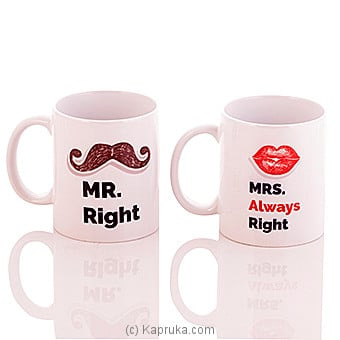 Mr & Mrs Mug Online at Kapruka | Product# ornaments00379