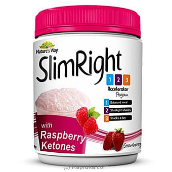 Nature`s Way Slimright Shakes - Strawberry W. Raspberry Ketones Online at Kapruka | Product# grocery00781