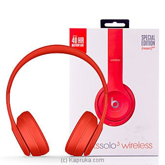 Beats Solo3 Wireless On-ear Headphones - (PRODUCT) RED Online at Kapruka | Product# elec00A700