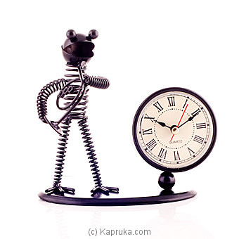 Vintage Iron Musician Table Clock Online at Kapruka | Product# ornaments00437
