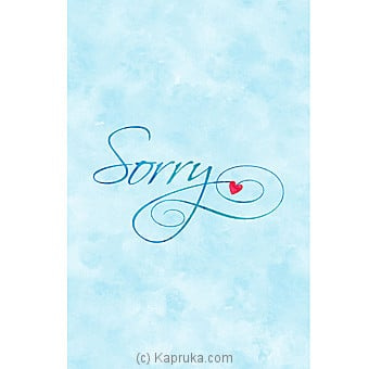 I Am Sorry Card Online at Kapruka | Product# greeting00Z1298
