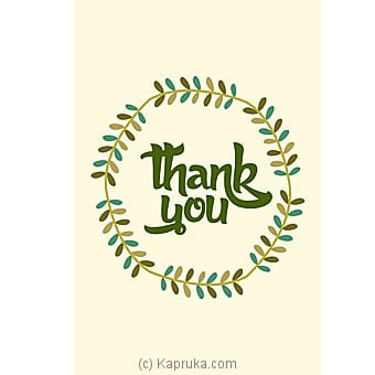 Thank You Card Online at Kapruka | Product# greeting00Z1302