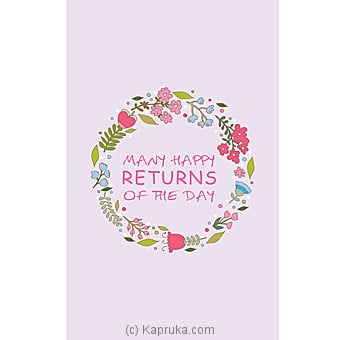 Birthday Greeting Card Online at Kapruka | Product# greeting00Z1337