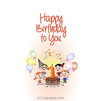 Birthday Greeting Card Online at Kapruka | Product# greeting00Z1334