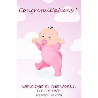 New Born Greeting Card Online at Kapruka | Product# greeting00Z1383