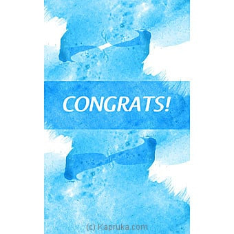 Congratulations Greeting Card Online at Kapruka | Product# greeting00Z1481