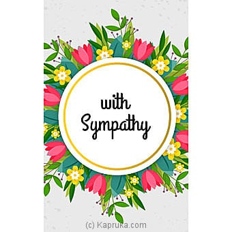 Sympathy Cards Online at Kapruka | Product# greeting00Z1520