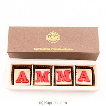 ` Amma ` 4 Piece Of Assortment Chocolates(java) Online at Kapruka | Product# chocolates00608
