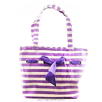 Summer Time Purple Stripe Bag Online at Kapruka | Product# fashion00715