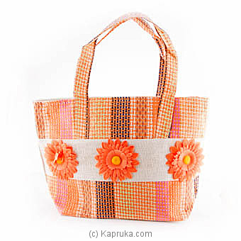 Summer Time Orange Flower Bag Online at Kapruka | Product# fashion00712