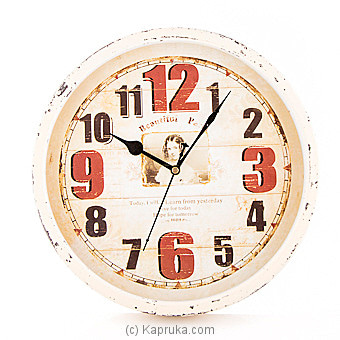 Vintage Wall Clock Online at Kapruka | Product# ornaments00515