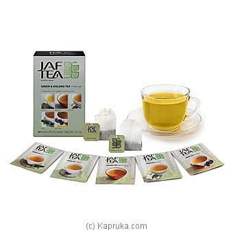 JAF TEA Pure Green Collection Green And Oolong Tea Melange Online at Kapruka | Product# grocery00818